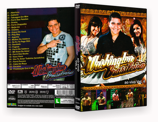 CAPA DVD – Wasshinton Brasileiro Ao Vivo Vol.4 DVD-R
