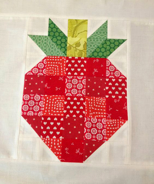 Strawberry Block Quilt Free Tutorial