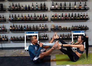 El yoga se mezcla con la cerveza : Yoga Beer