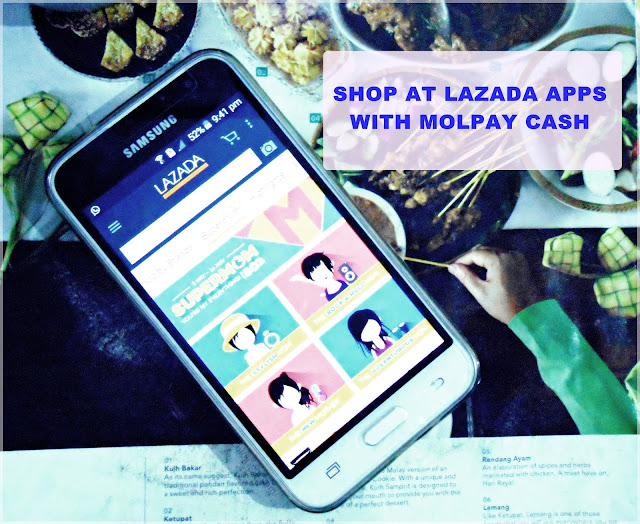tutorial on how to shop on Lazada Malaysia apps using MOLPay CASH