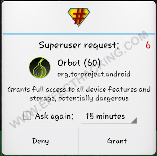 Superuser request Orbot