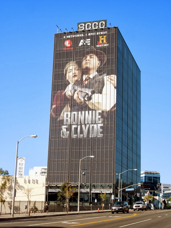 Giant Bonnie Clyde 2013 billboard Sunset Strip