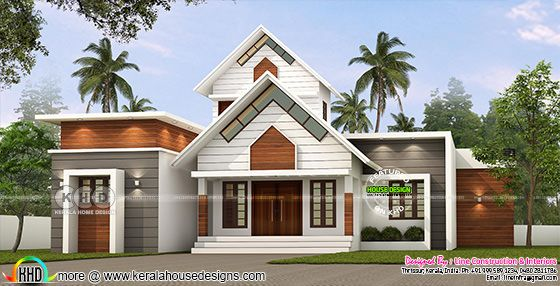 1688 square feet 3 bedroom modern mixed roof home