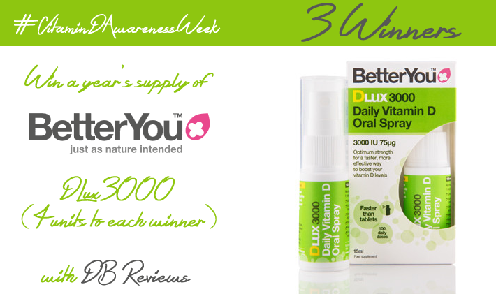 Vitamin D Awareness Week with BetterYou and a fabulous giveaway