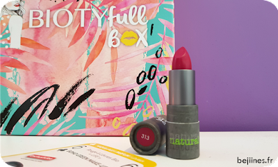 "BIOTYfull Box ""Routine Pré-Estivale"" rouge boho green make-up"