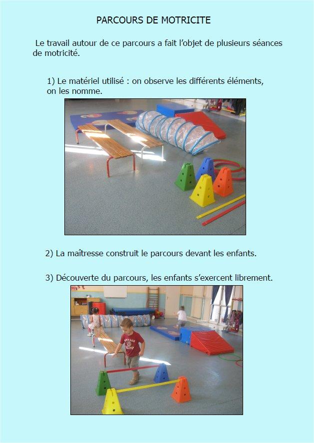 l 39 cole maternelle de nissan parcours de motricit dans la classe de dani le petits. Black Bedroom Furniture Sets. Home Design Ideas
