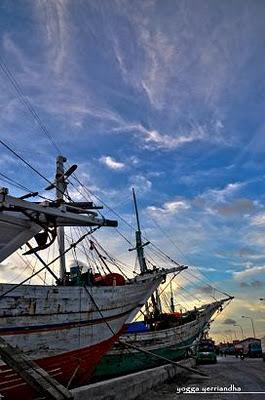 Antique ships at Sunda Kelapa Harbor