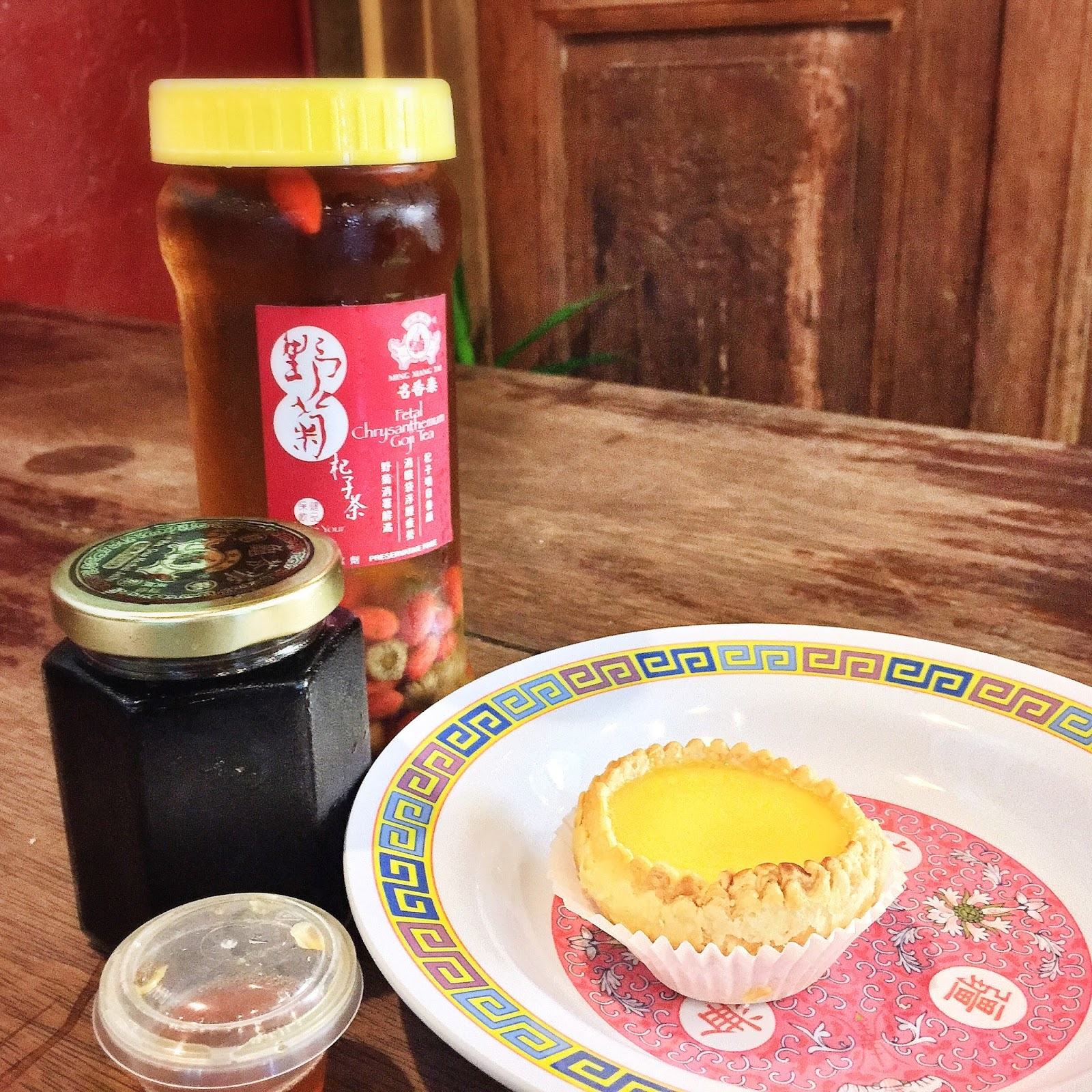 Ming Xiang Tai Pastry Shop - Trishaw Egg Tart, Fetal Chrysanthemum Goji Tea, Luo Han Guo Herbal Jelly