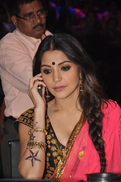 Anushka Sharma Latest Photos in Saree at Nach Baliye