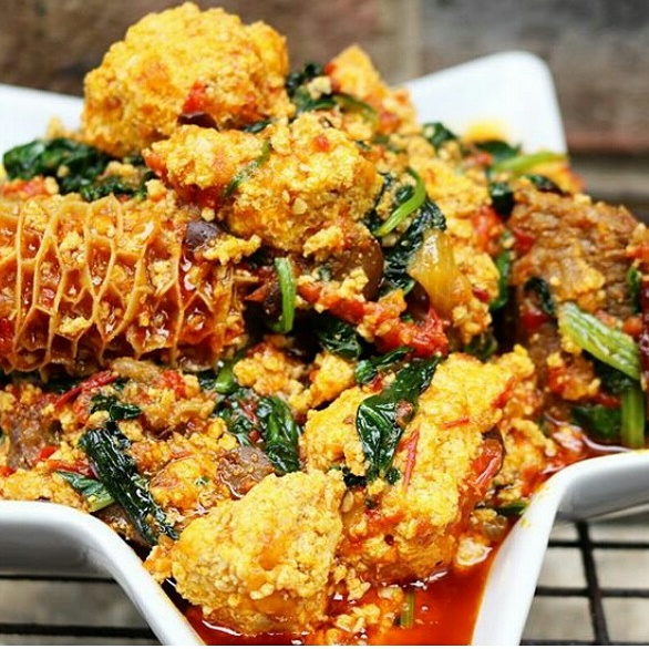 Lumpy, thick and yummy egusi soup