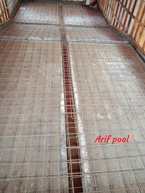 cara gambar pembuatan kolam renang