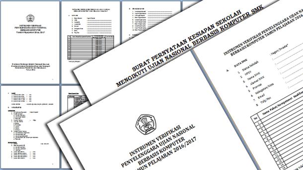 Instrumen Verifikasi dan Surat Pernyataan Kesiapan Sekolah UNBK 2017