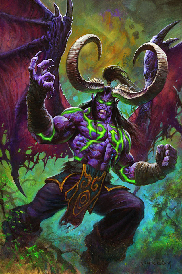 Fall Of The Lich King Wallpaper Illidan The Betrayer By Alex Horley Wow Phone Wallpapers