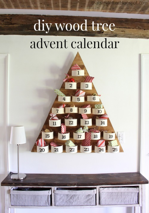 diy wood tree advent calendar