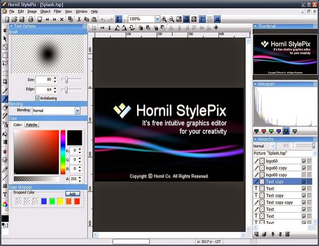 Hornil StylePix  繪圖軟體,