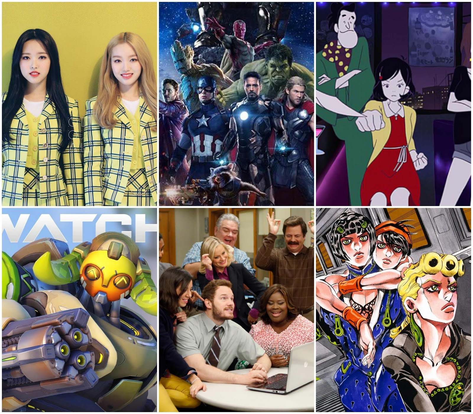 loona mcu overwatch parks and rec yuasa
