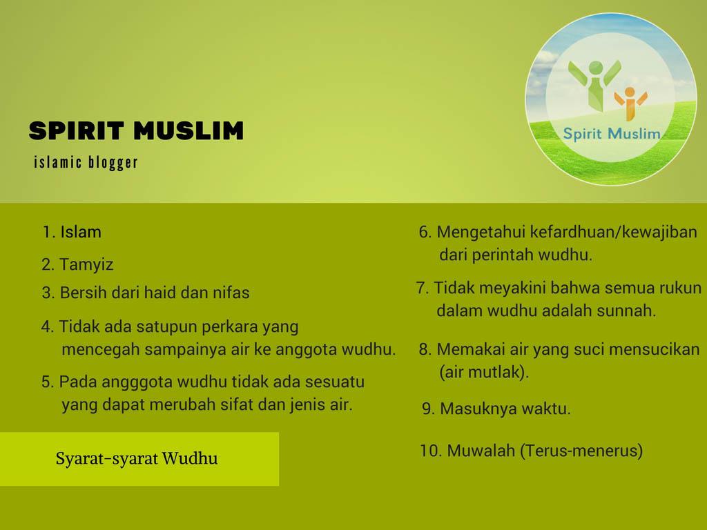 Penjelasan Lengkap Mengenai Syarat Syarat Wudhu Rukun Rukun Wudhu Dan Sunnah Sunnah Wudhu Spirit Muslim Spirum