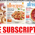 Free Subscription to All Recipes Magazine. Nothing to cancel ever,  No Bills Ever!
