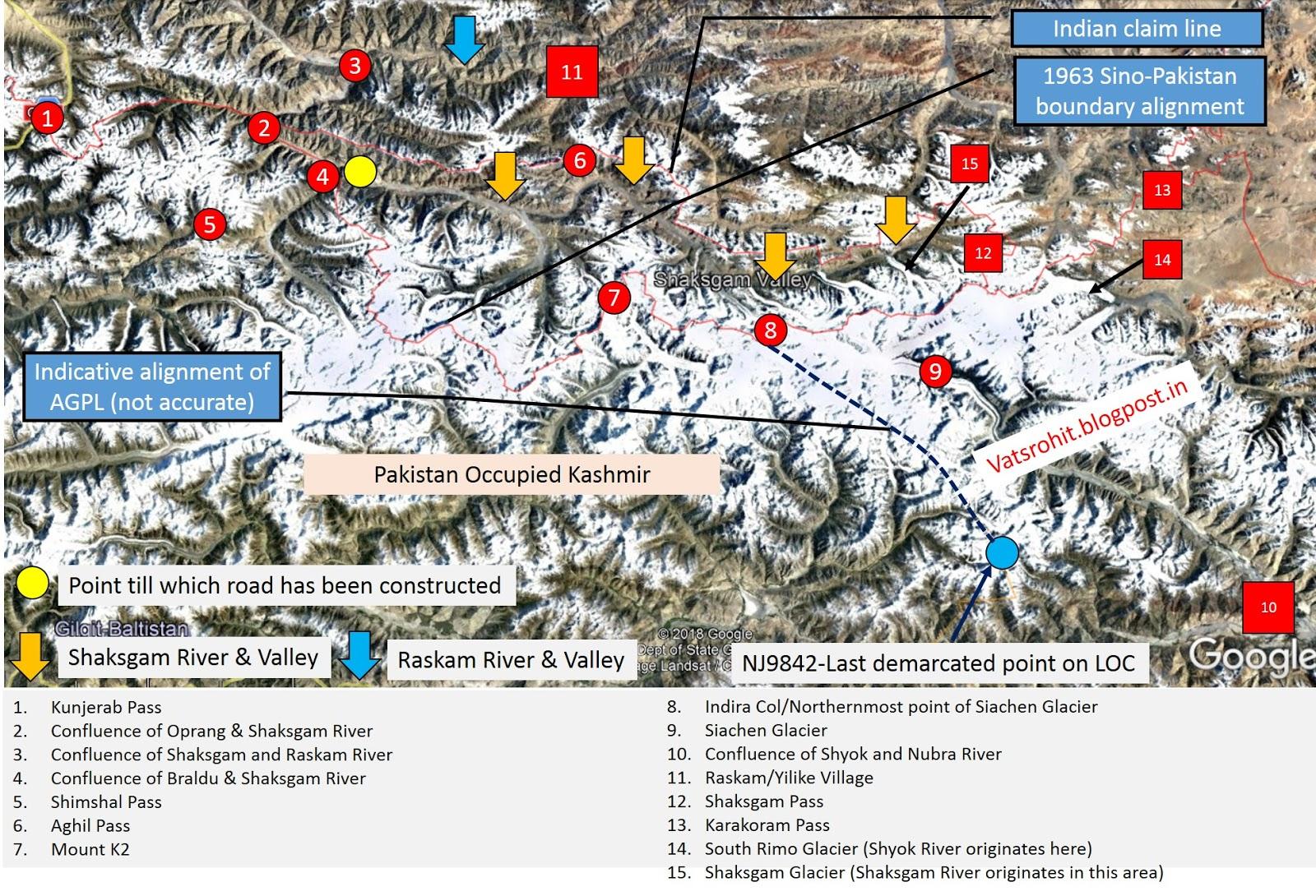India, China and Shaksgam Valley | Perspective