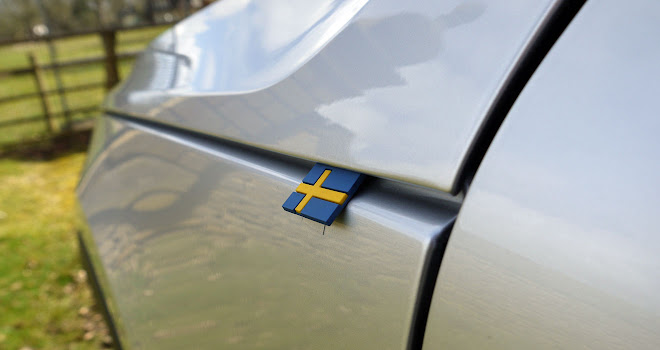 Volvo XC40 Swedish flag detail