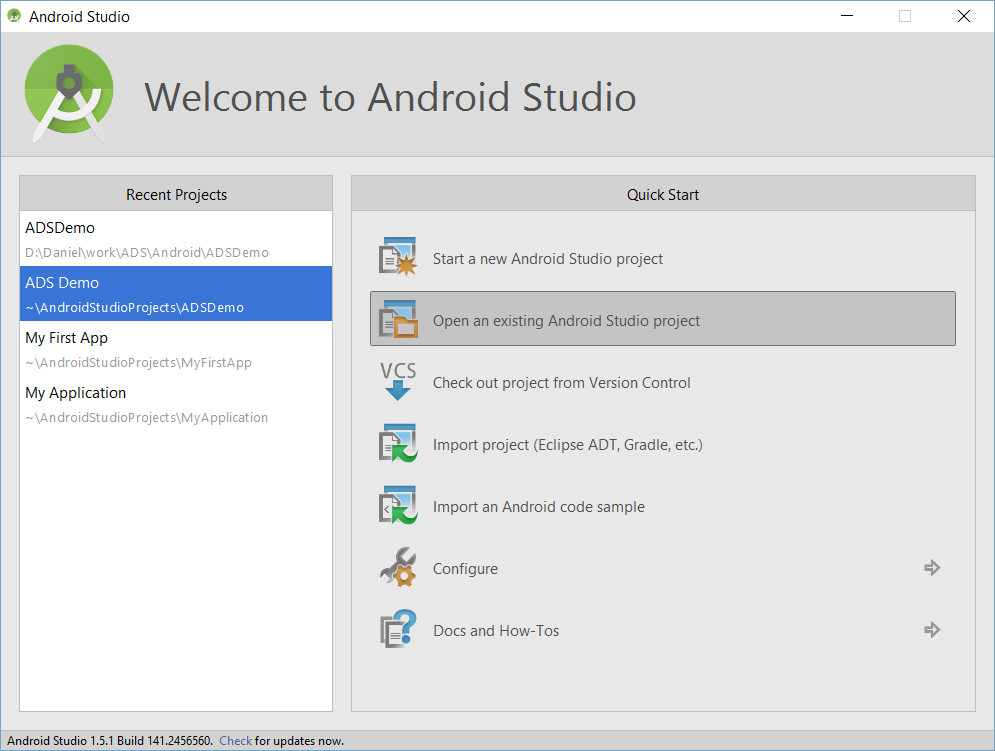 can android studio open apk files