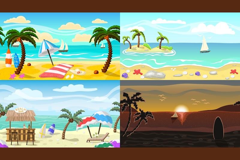 2D Oyun Yapabilmek için Deniz Kenarı Mekanları