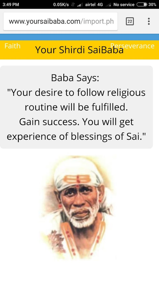 Shirdi Sai Baba Blessed Me To Do His Seva In Naam Jaap