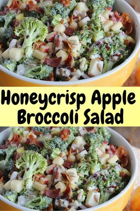 Honeycrisp Apple & Broccoli Salad | Hope And Lucky #Veganrecipes #vegan #recipes #healthyfood #salad #vegetables #potatoes