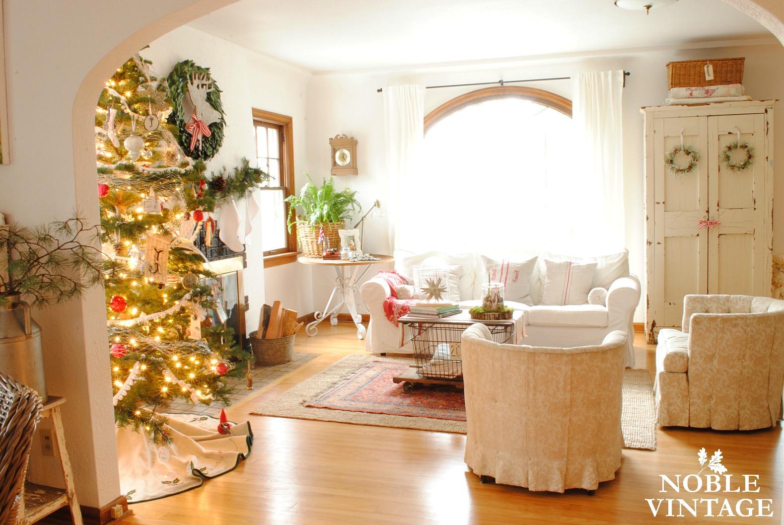 vintage rustic christmas house tour part 1