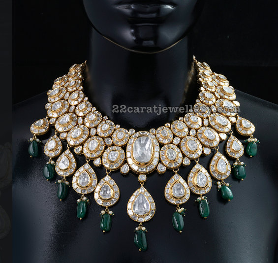 Polki Diamond Choker by Kalasha Fine Jewellers