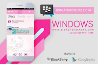 BBM MOD Windows Phone Hello Kitty