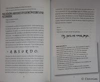 Diario de un cuerpo, uso de diferentes tipografías