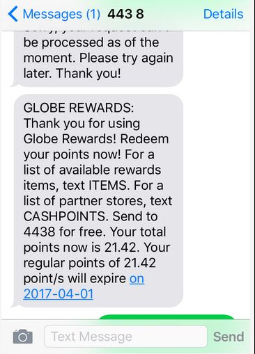 Globe Rewards BUG 25GB for 20 Points - Dipo TECH