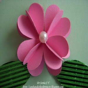 Cards crafts kids projects handmade flower tutorials heart punch 3 d thecheapjerseys Images