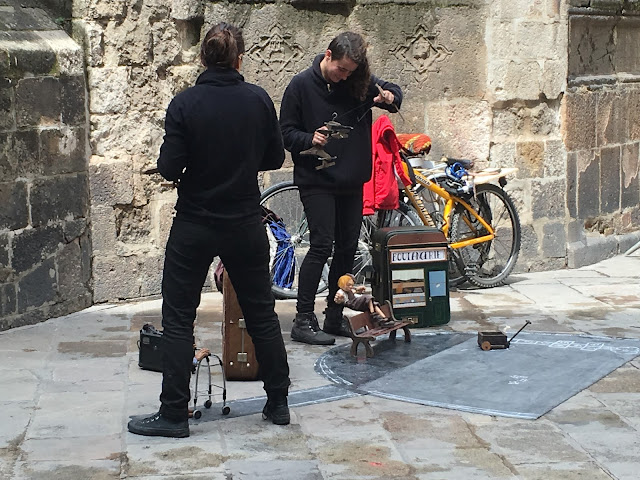 Street Performers in the Gothic Quarter Barcelona