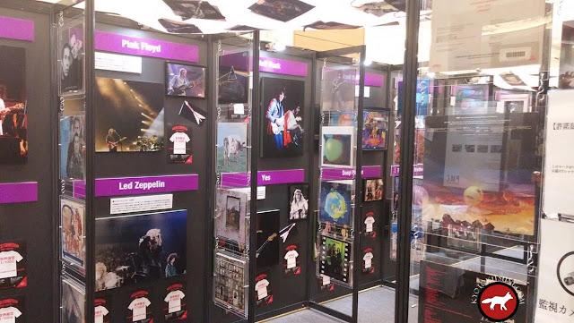 photo à l'exposition rock exhibition de Kyoto à AEON