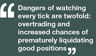 Dangers of watching every stock tick