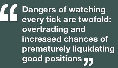 Dangers of watching every stock tick