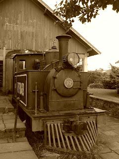 Antiga Locomotiva na  Casa do Artesão, em Canela