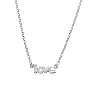 small silver name necklace