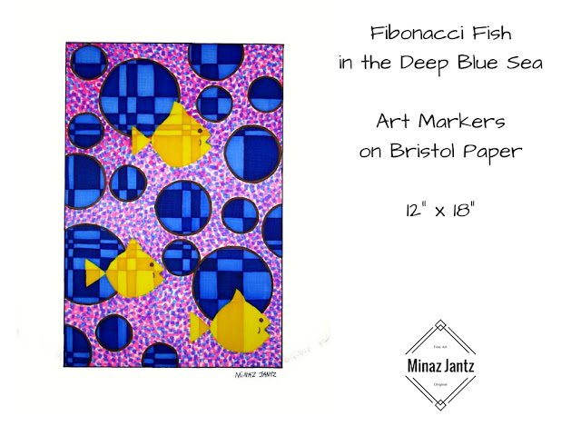 Fibonacci Fish in the Deep Blue Sea by Minaz Jantz