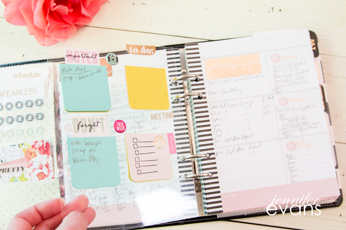 How to create a work planner from the @heidiswapp Memory Planner by @createoften