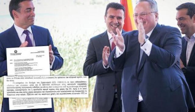 Έγγραφο - βόμβα για τα Σκόπια