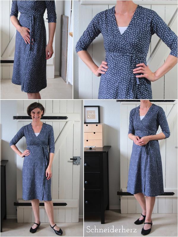 Mode selbstgenäht Wickelkleid Sommerkleid Schnittmuster Onion 2014