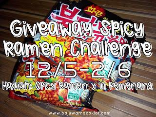Giveaway Spicy Ramen Challenge by Bajuwarnacoklat & Sponsor
