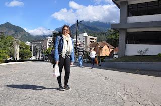 Brunna Sessin, candidata do Rio de Janeiro, ficou impressionada com a infraestrutura e o acolhimento que o UNIFESO oferece