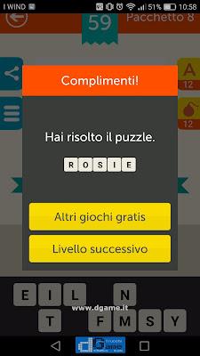Mega Quiz soluzione pacchetto 8 livelli 59-60