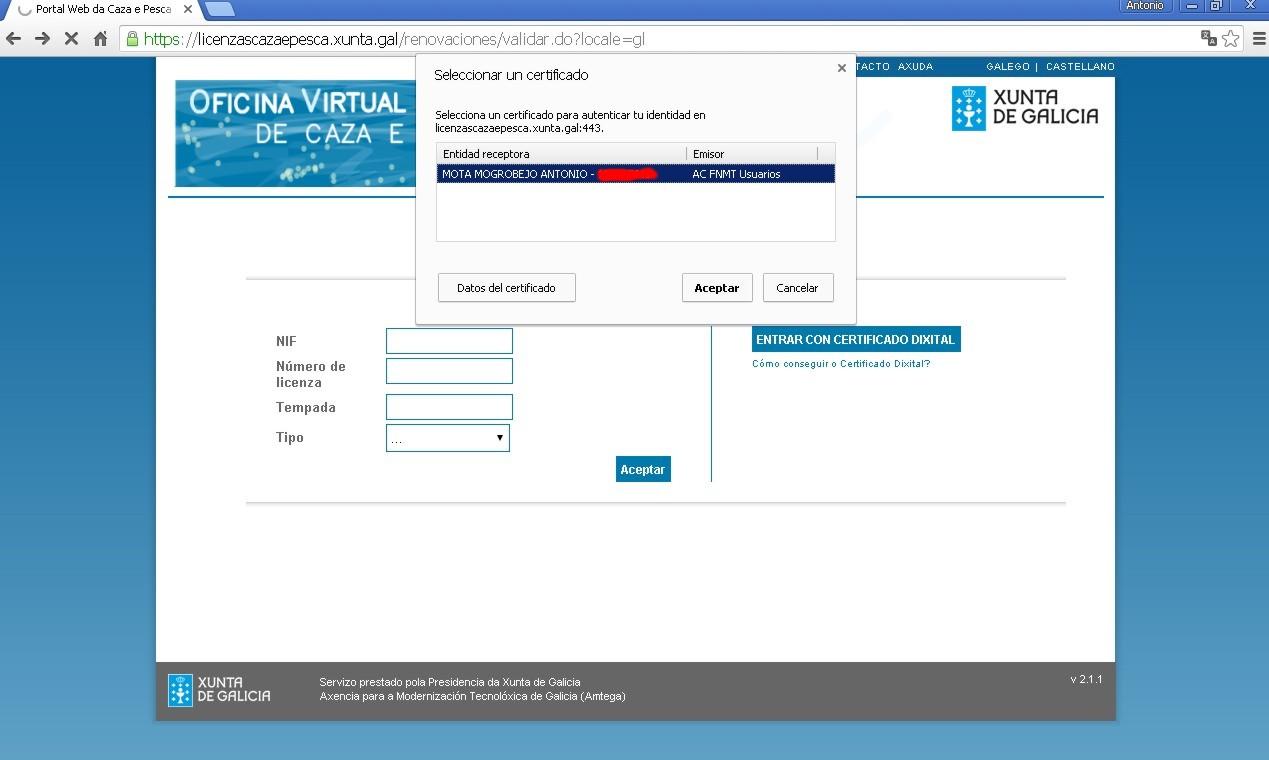 Unitega hemos probado la oficina virtual de la xunta de for Oficina xunta de galicia