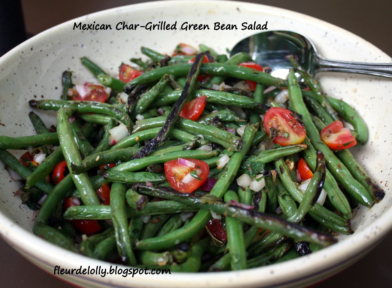 Fleur de Lolly: Mexican Char-Grilled Green Bean Salad
