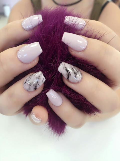 New marble nail art